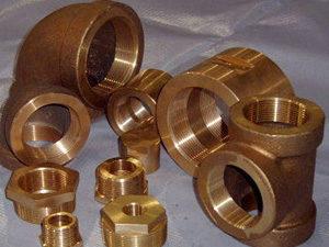 Cupro Nickel 90 10 Threaded Forged Fittings 90 10 Cu Ni